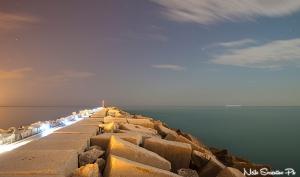 Molo San Benedetto di notte